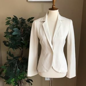 Cache Cream Fitted Blazer Size 2